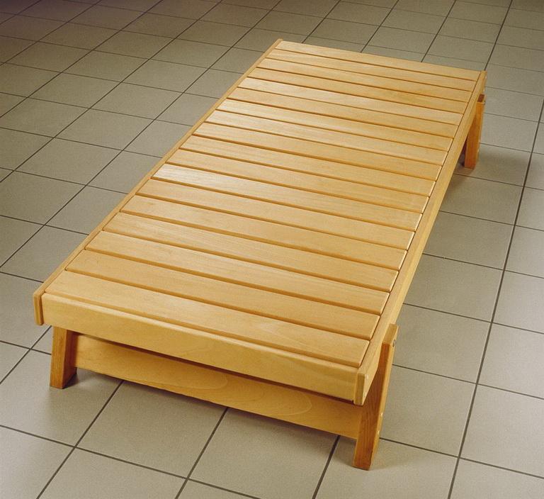 saunaliege sauna ruheliege ruhebank holz. Black Bedroom Furniture Sets. Home Design Ideas