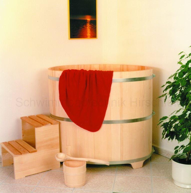 saunatauchbecken aus holz fichte au en natur innen farblos. Black Bedroom Furniture Sets. Home Design Ideas