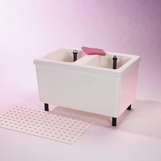 sauna doppel fu becken aus gfk kunststoff. Black Bedroom Furniture Sets. Home Design Ideas