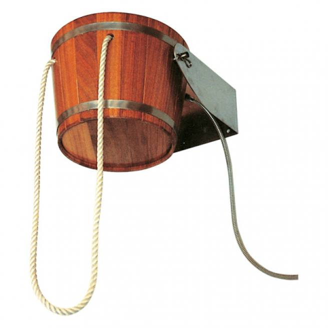 eimer schwalldusche aus kambala holz f r innen au en. Black Bedroom Furniture Sets. Home Design Ideas