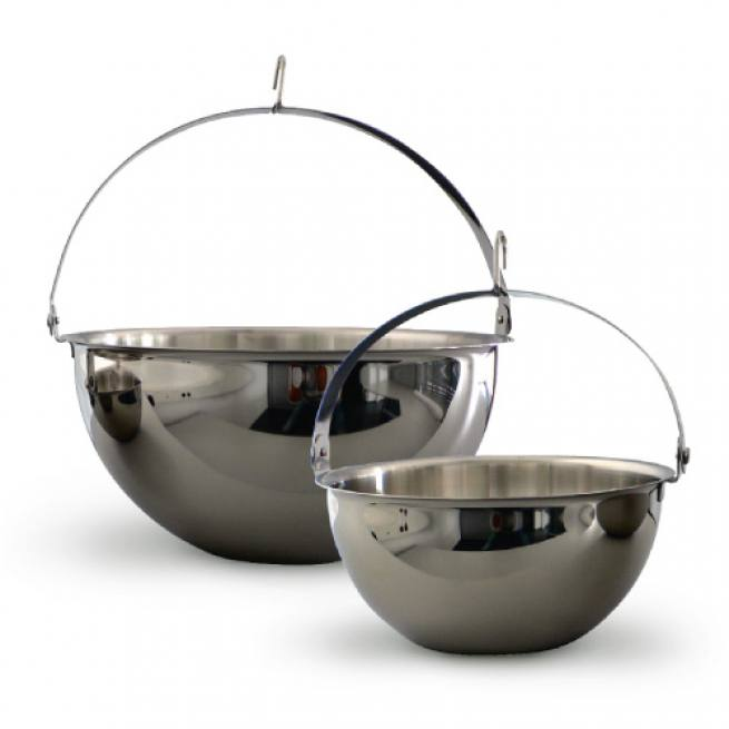 sauna kr utertopf aus edelstahl f r saunaduft. Black Bedroom Furniture Sets. Home Design Ideas
