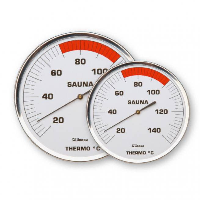 Sauna Thermometer - Edelstahl 130 mm / 160 mm